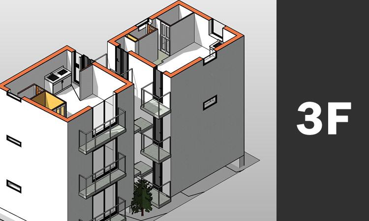 CADで作成した3D画像 全景