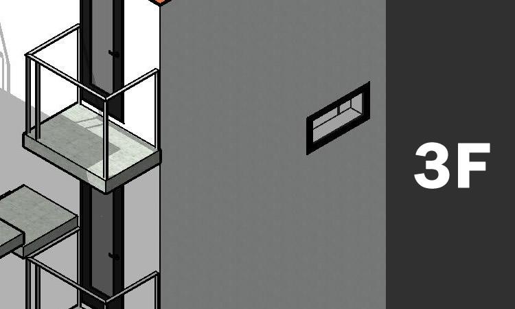 CADで作成した3D画像 バルコニー