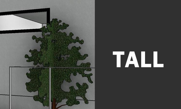 CADで作成した3D画像 植栽