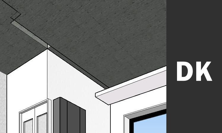 CADで作成した3D画像 内部キッチン天井